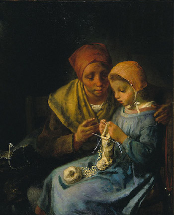 millet knittinglesson