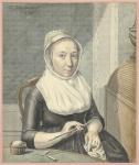 Portret ven een dame met breiwerk, Warner Horstink 1799, Collectie Rijksmuseum